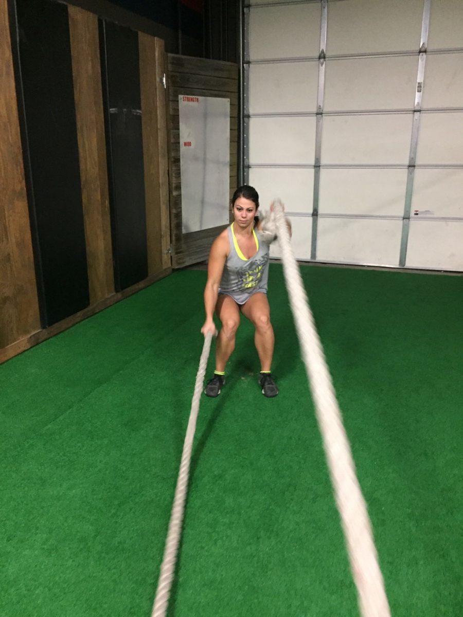 crossfit rope swing