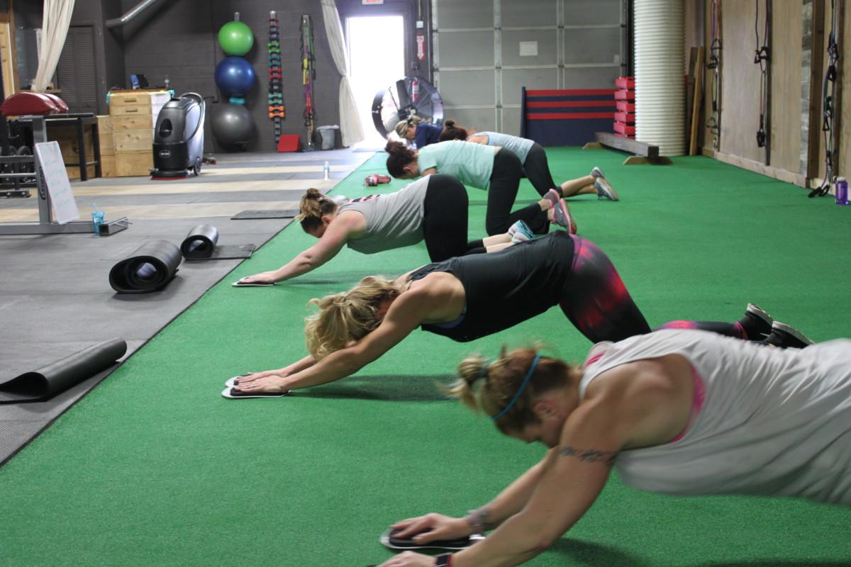 boot camp team pushups